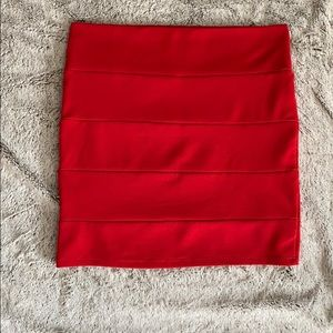 Charlotte Russe Red Bodycon Skirt